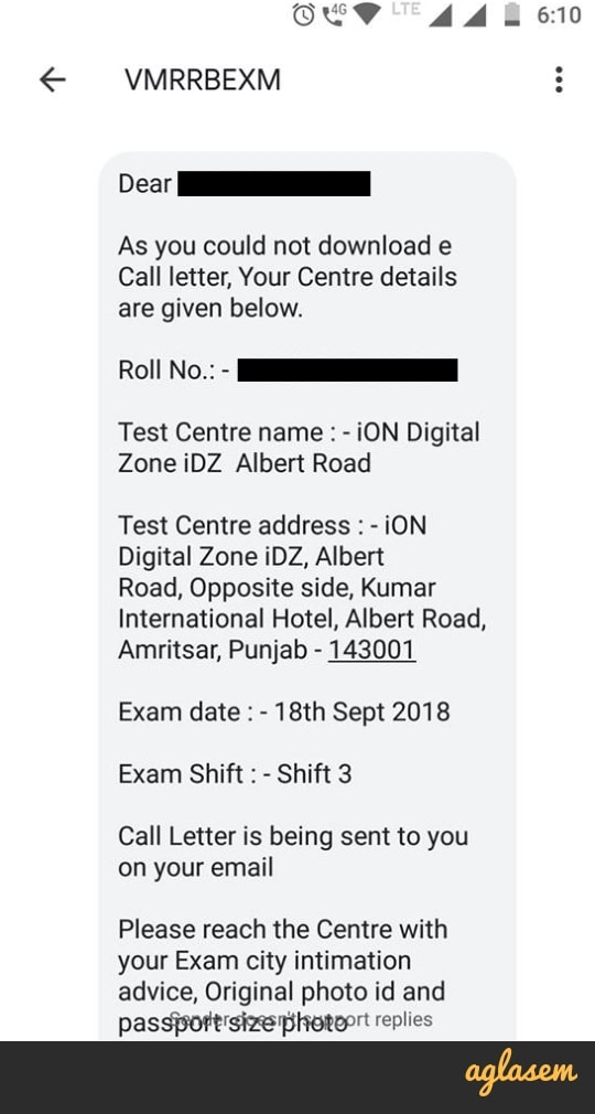 letter to check application status