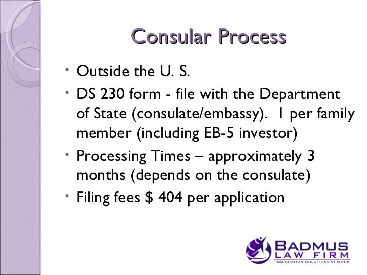 application status processing at consulate general