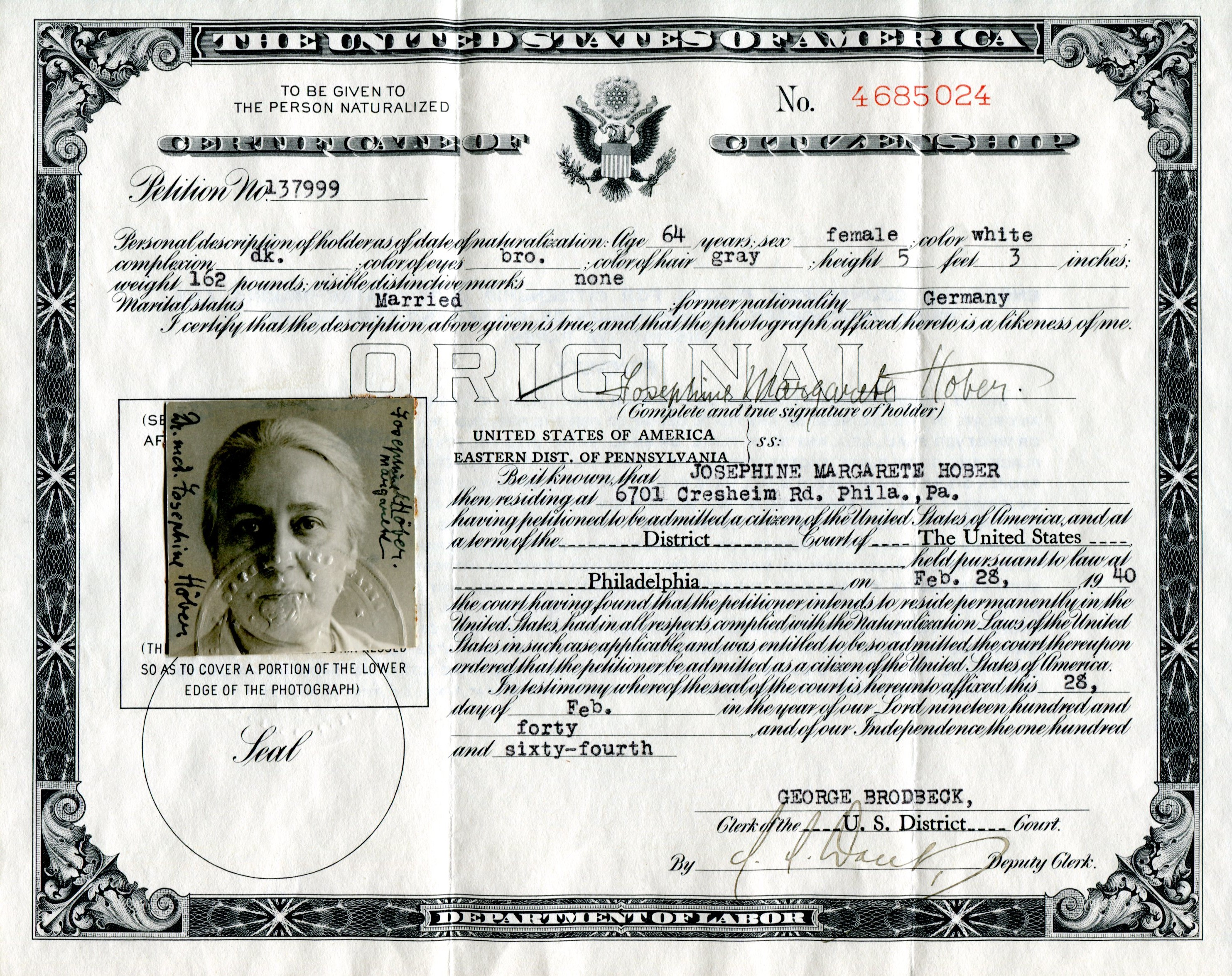 application for a search of citizenship records