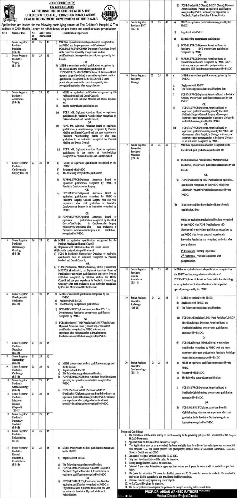 department of health application forms
