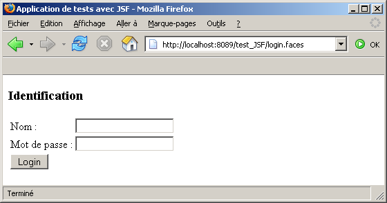 jsf application example in eclipse