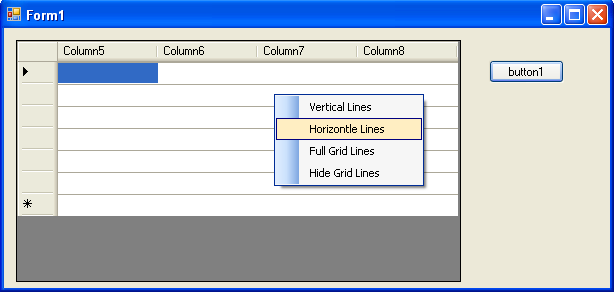 datagridview in c# windows application
