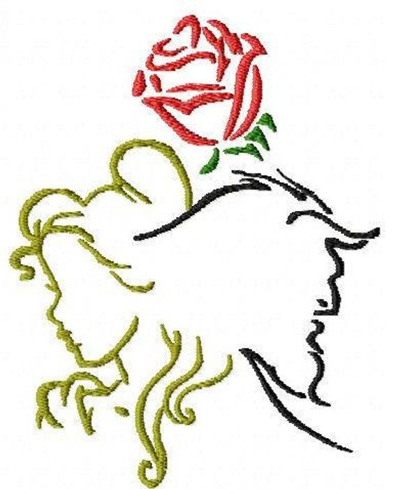 beauty and the beast applique design