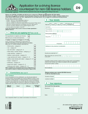 provisional driving licence application form