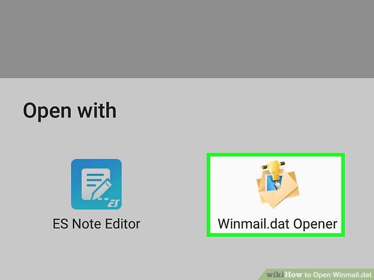 what application opens winmail dat