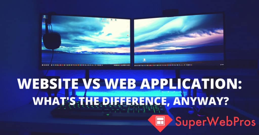 difference between application and web application