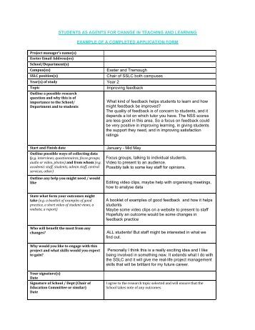 what is duly accomplished application form