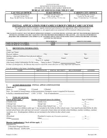 bc child care licensing application