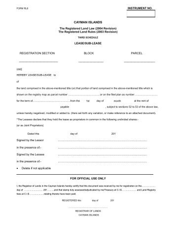 cayman islands government application form