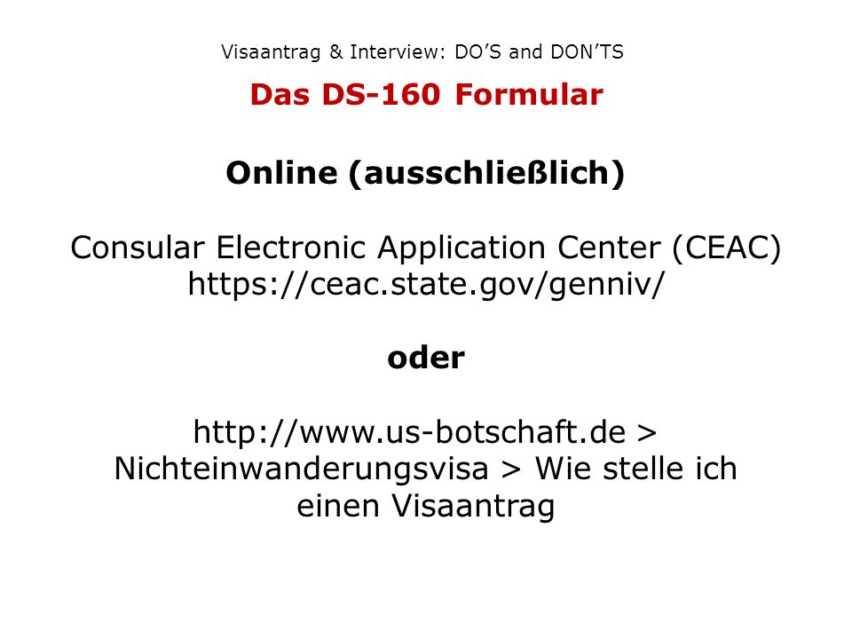 consular electronic application center ds 160