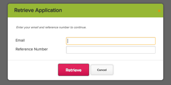 what is application reference number