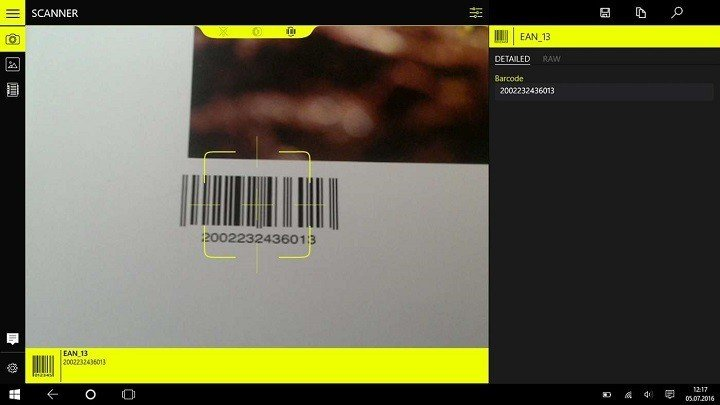 barcode scanner application for windows