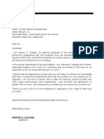 example of application letter for ojt
