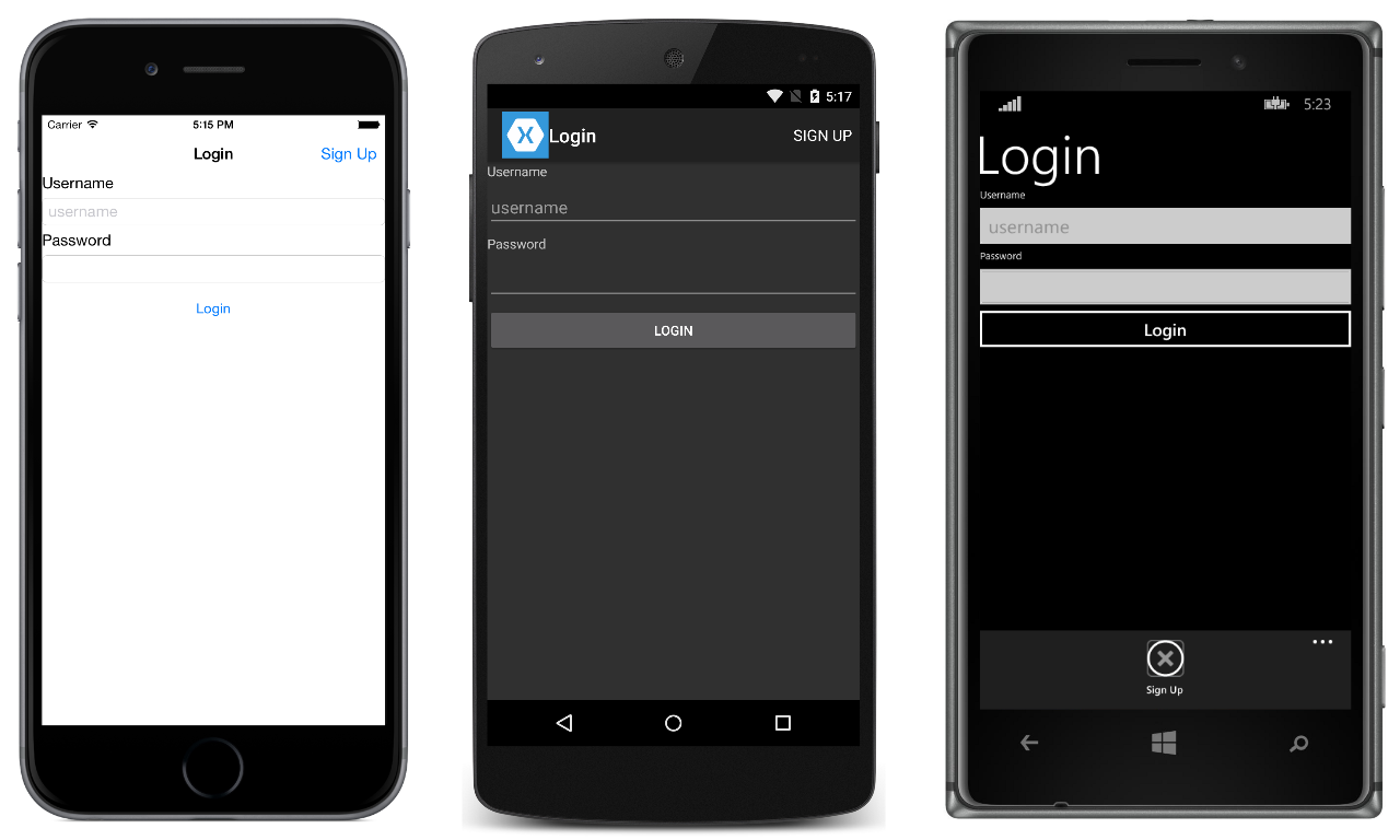 how to create form in android application