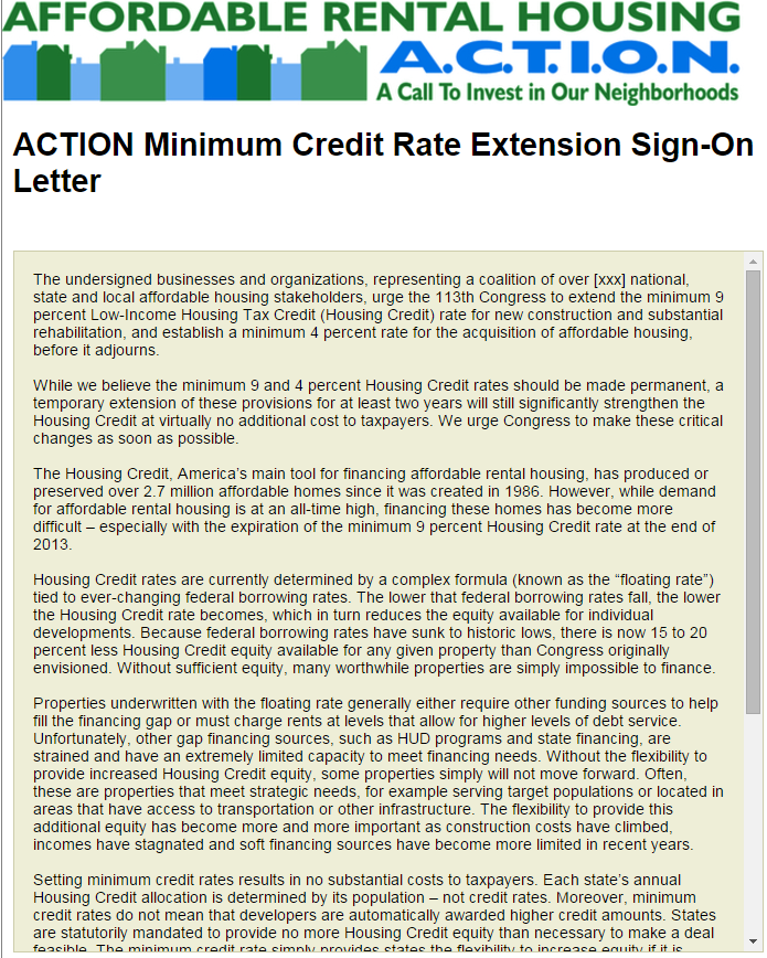 low income housing tax credit application
