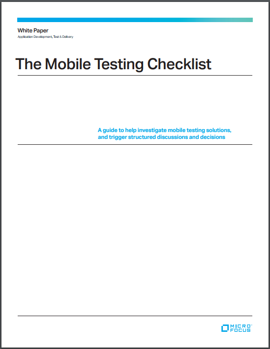 usability testing checklist for mobile application